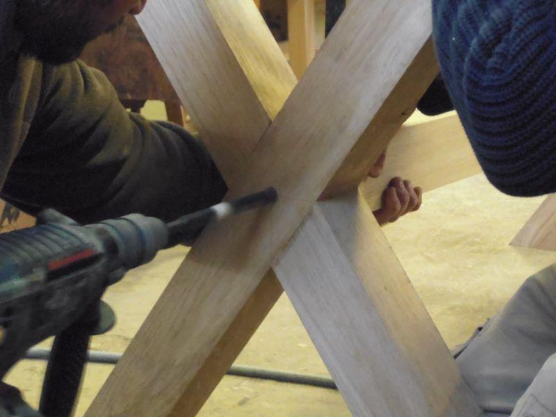 Fabrication sur mesure de table de salle manger a aix en for Table sur mesure lapeyre